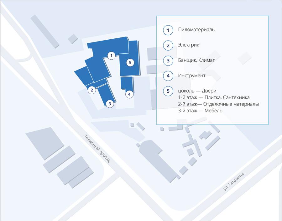 Схема комплекса ТК НОВОСЕЛ